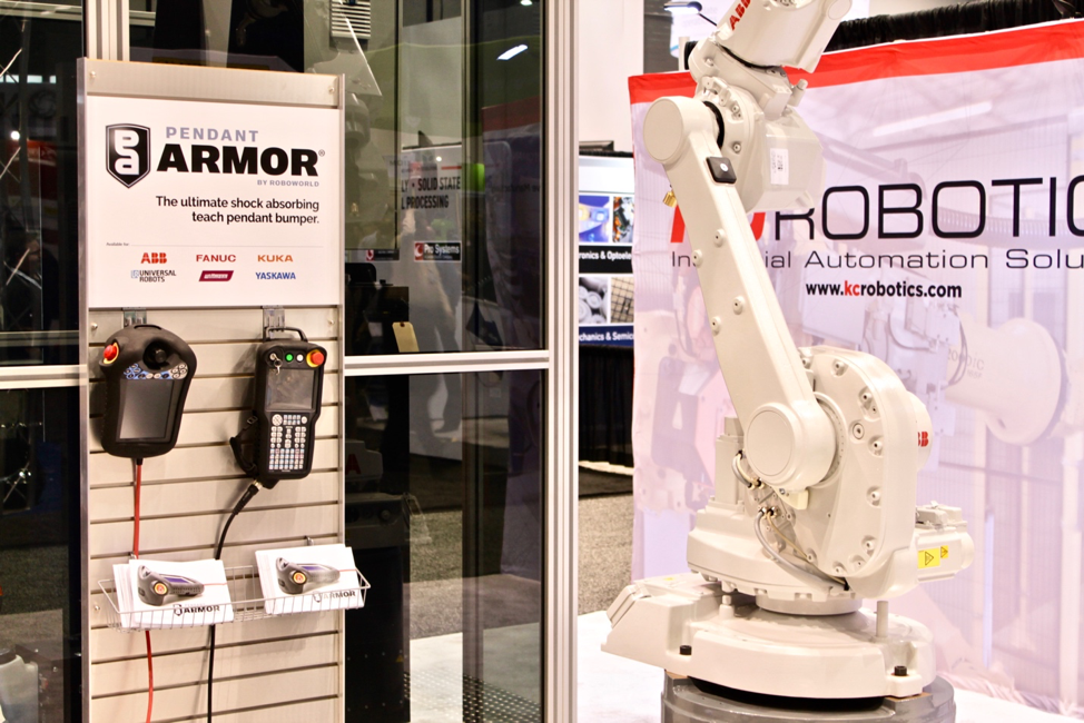 Pendant Armor display in the KC Robotics booth at Automate 2019