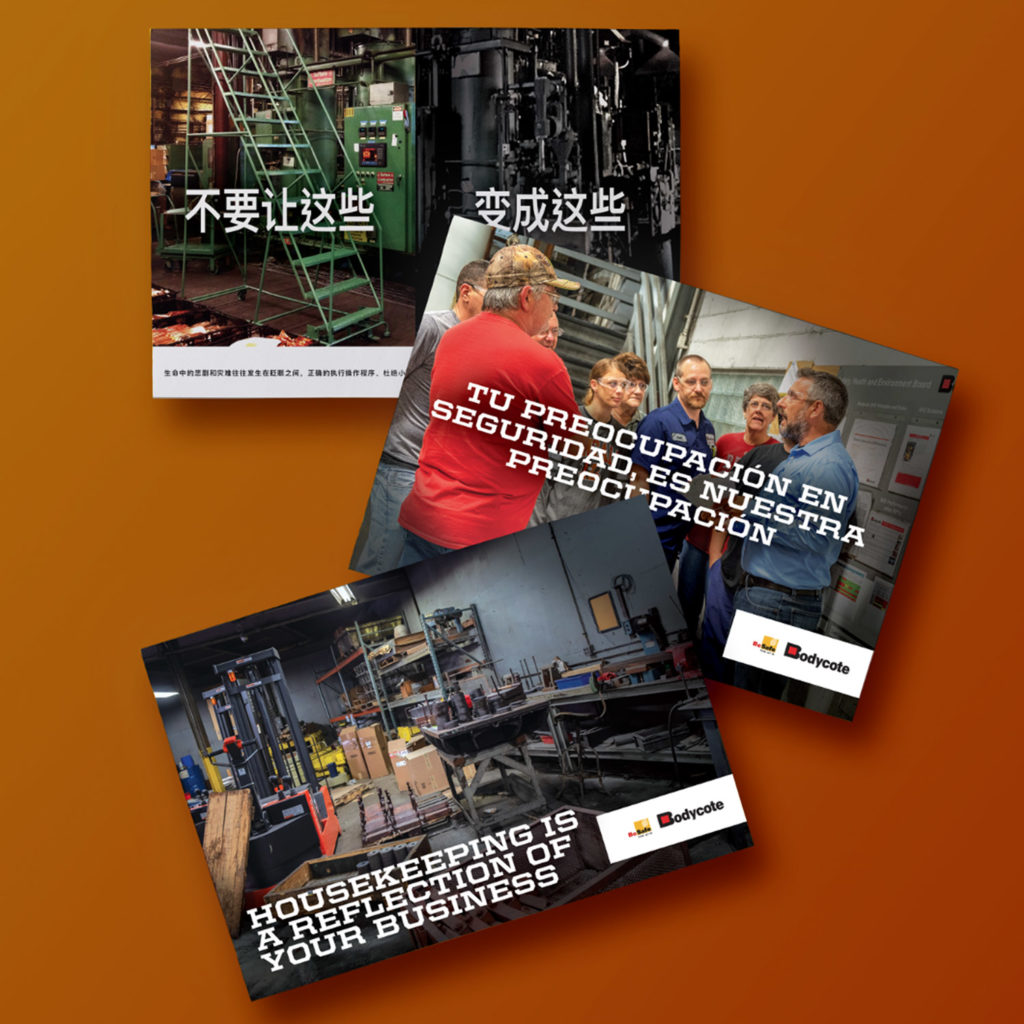 Bodycote Internal Safety Posters in 3 languages