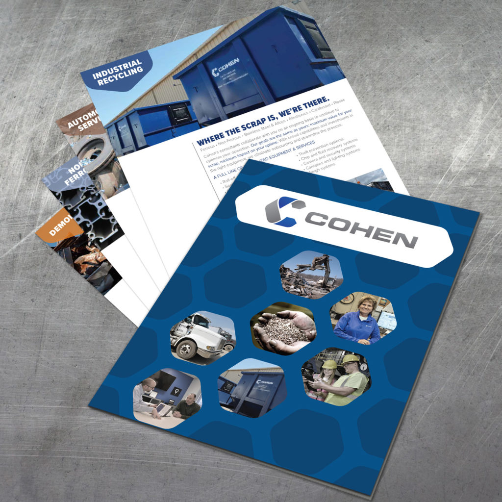 Brand development and graphic design for Cohen Recycling