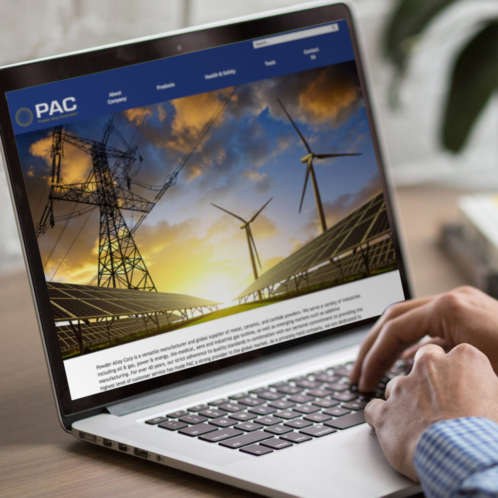 Website development for Powder Alloy Corporation