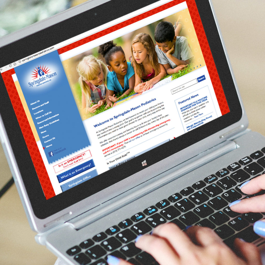Website development for Springdale-Mason Pediatrics