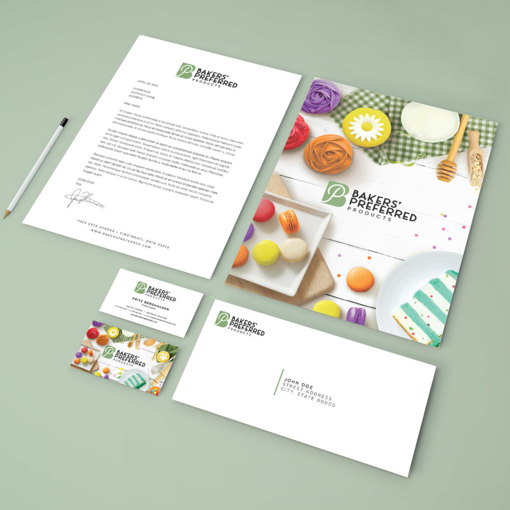 Bakers Preferred Product branded stationery