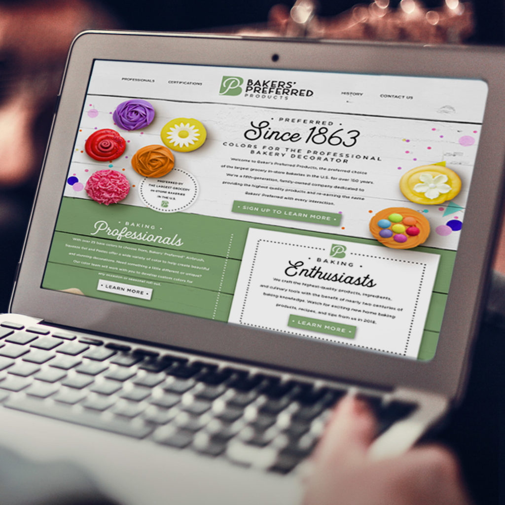 Brand strategy and web development for Bakers Preferred Products