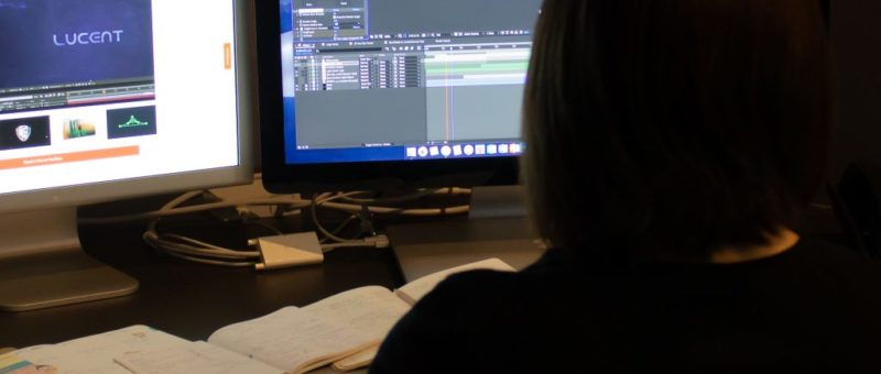 person working on computer animation